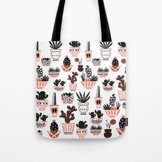 Mid-Century Modern Cacti  Tote Bag