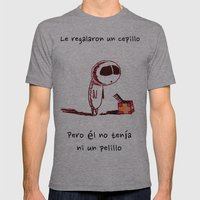 Cepillo Mens Fitted Tee Athletic Grey SMALL