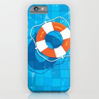 iPhone & iPod Case featuring In the pool by Matt Andrews