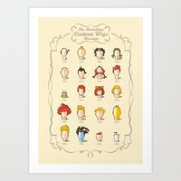 The Marvelous Cartoon Wi… Art Print