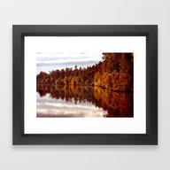 RADIANT AUTUMNAL REFLECT… Framed Art Print