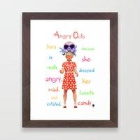 Angryocto - Sara's Candy Framed Art Print