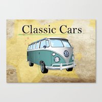 Classic Cars 2 Canvas Print