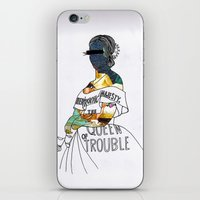 A P S queen iPhone & iPod Skin