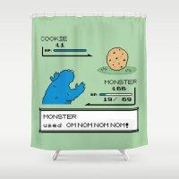 Cookiemon Shower Curtain