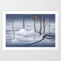 Winter Snow And The Last… Art Print