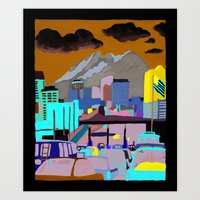 Santa Fe Bridge Art Print