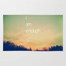I Am Enough Rug