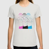 Manóculos Womens Fitted Tee Silver SMALL