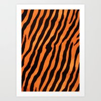 Tiger Pattern Art Print