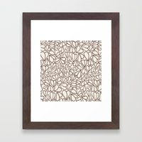 Hearts Clear Framed Art Print