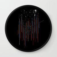 Through The Cosmic Rays Wall Clock