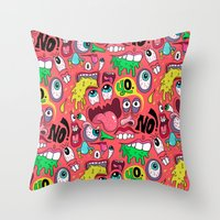Gross Pattern Throw Pillow