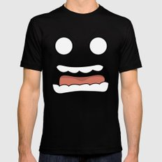 Scary Face Black Mens Fitted Tee SMALL