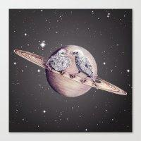 Space Sparrows Canvas Print