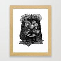 lamps Framed Art Print