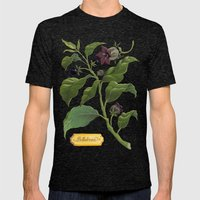 Deadly Nightshade Mens Fitted Tee Tri-Black SMALL