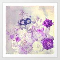 bouquet with light Art Print