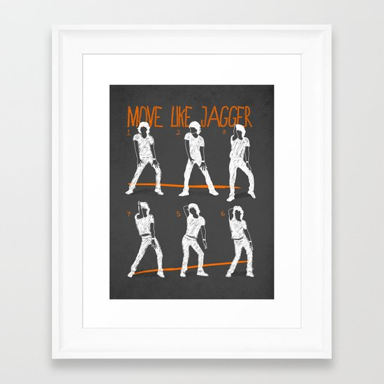 Move Like Jagger 2 Framed Art Print