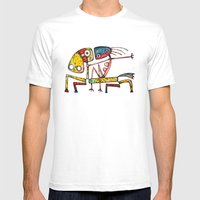 Ballerina Riding Mens Fitted Tee White SMALL