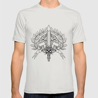 VICTORY Mens Fitted Tee Silver SMALL