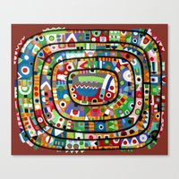 Planet of all good people Canvas Print
