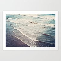 Ocean Waves Retro Art Print