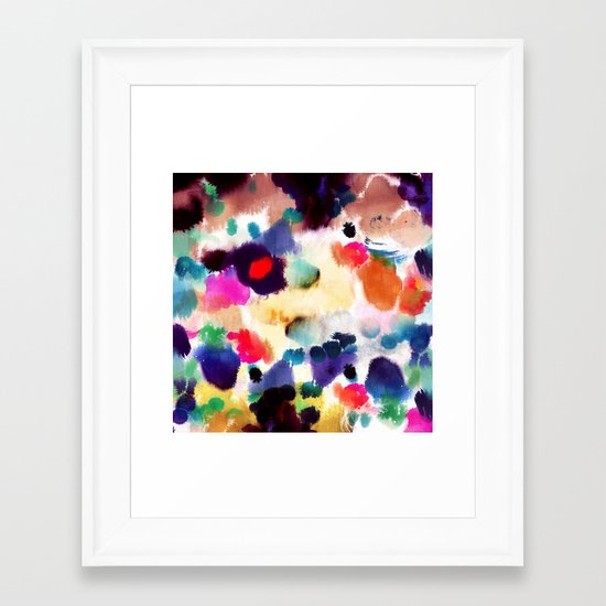 Ink Mix II Framed Art Print