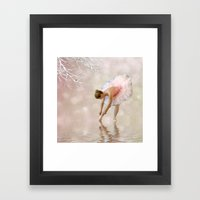 Dancer in Water Framed Art Print