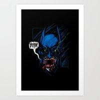 Batzombie Art Print