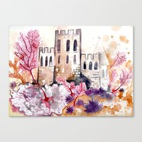 Castle and Coral Canvas Print