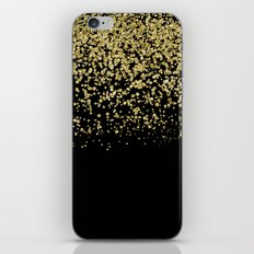 Sparkling Golden Glitter… iPhone & iPod Skin