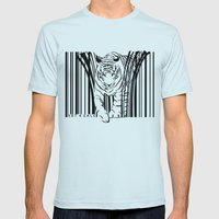 Tigers extinct in 12 years? Mens Fitted Tee Light Blue SMALL