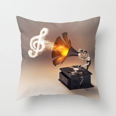 let the music play (just keep the groove) Throw Pillow