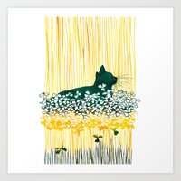 Clover Cat Art Print