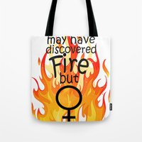 Men vs Women Tote Bag