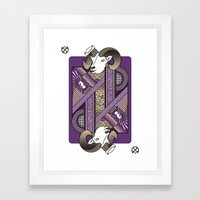 Ram Card. Framed Art Print