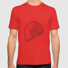 Daft punk Guy Manuel Poster random access memories  digital illustration print Mens Fitted Tee Red SMALL
