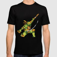 Nunchaku Turtle Mens Fitted Tee SMALL Black