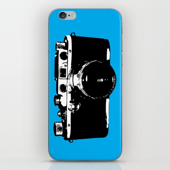 Leica in Blue iPhone & iPod Skin