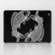 Black White Koi iPad Case