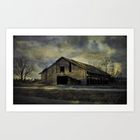 Old Rugged Barn Art Print
