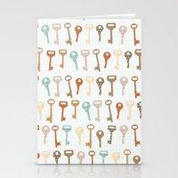 keys pattern Stationery Cards
