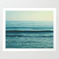 beach waves. Somewhere  Art Print
