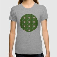 Flower Pattern Womens Fitted Tee Tri-Grey SMALL