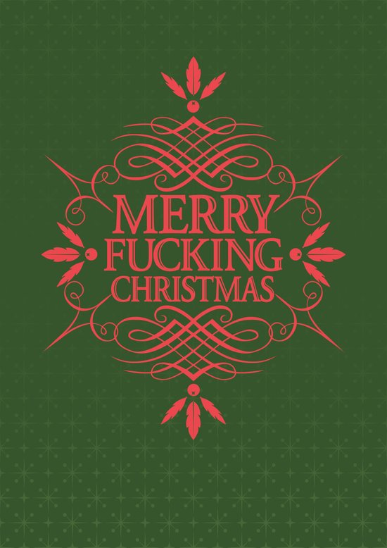 Merry Effin Christmas Canvas Print