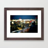 New York City Blinding Lights Framed Art Print