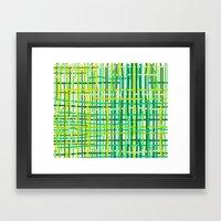 Springtime Woven. Framed Art Print