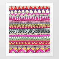 Tribal Lines Art Print