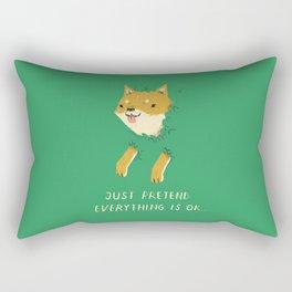 Rectangular Pillow - bush shiba - Louis Roskosch